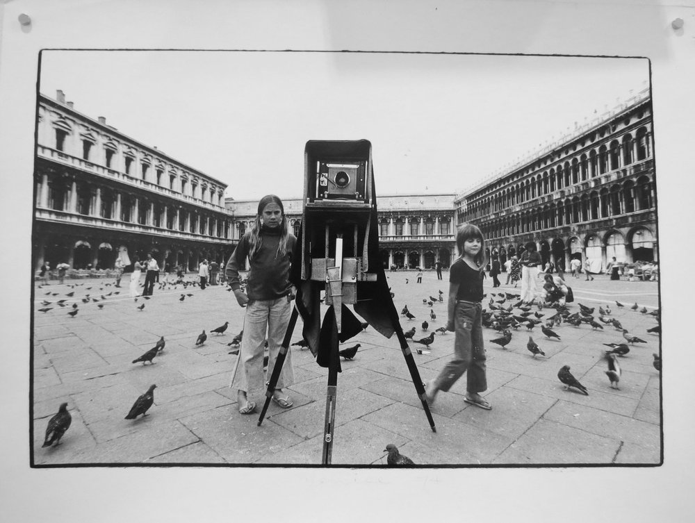 83. Richard Woldendorp, 'Piazza- San Marco, Venice Italy', BW353a, taken and printed in  1974, Vintage Print