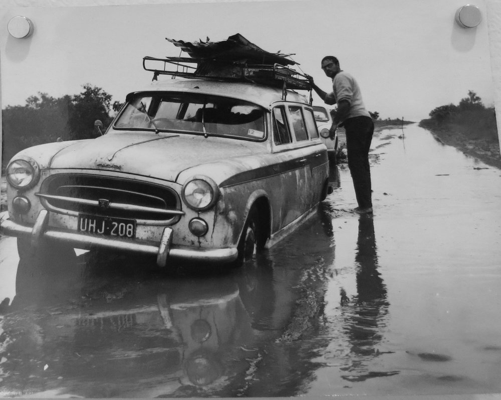 86. Richard Woldendorp, 'Driving north with Wim Boissevain, North West WA, taken and printed in 1964, Vintage Print