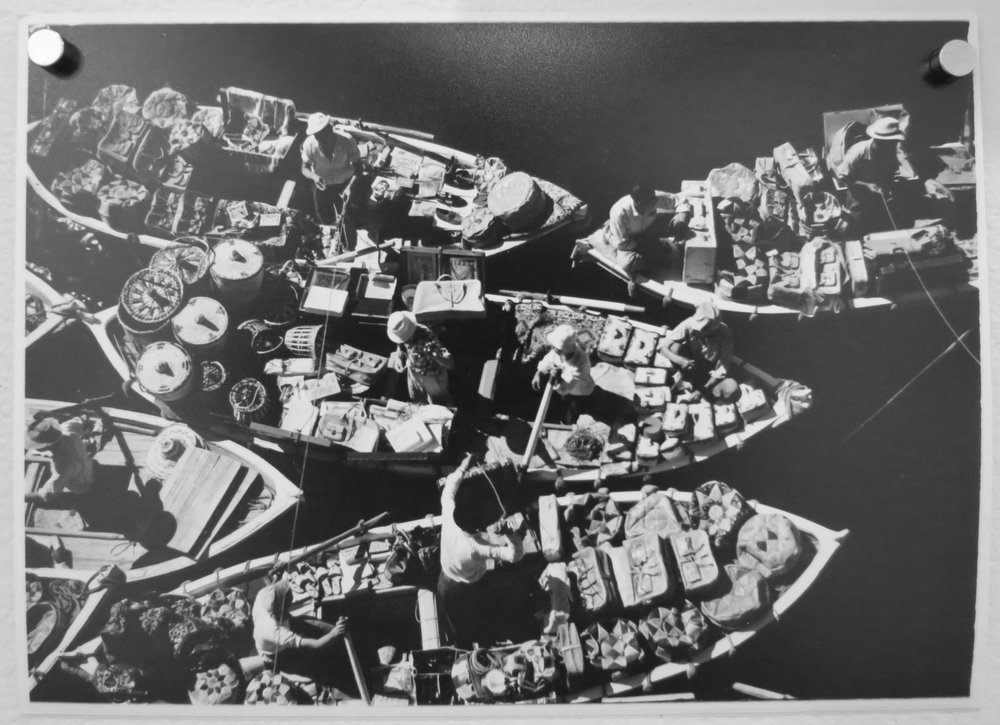 88. Richard Woldendorp, 'Floating Markets, Port Said, Egypt', BW06, taken and printed in 1955, Vintage Proof Print