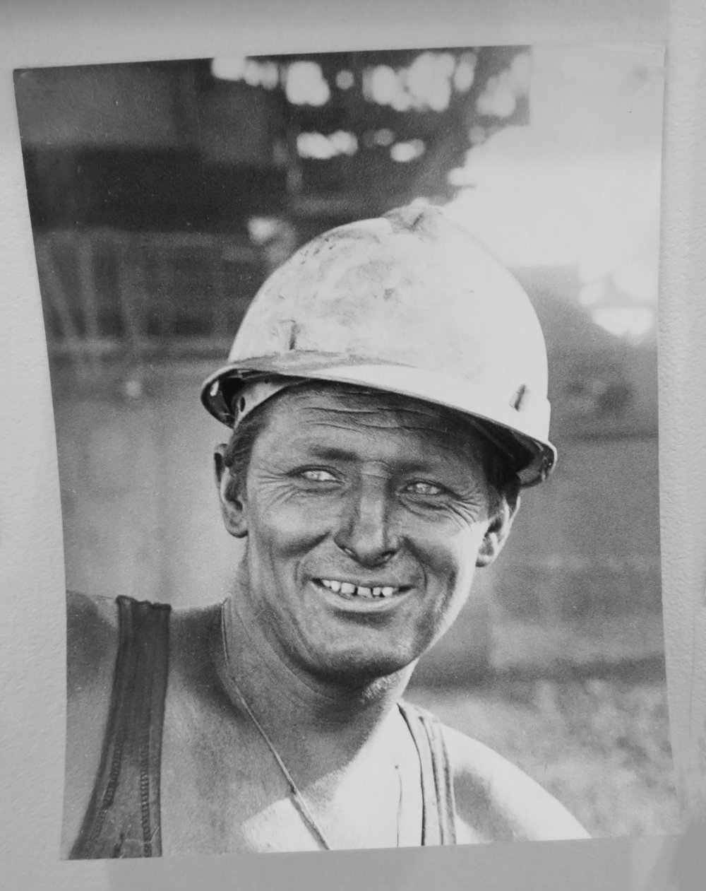 90. Richard Woldendorp, 'Iron Ore Worker, Mt Goldsworthy WA', BW300, taken and printed in 1968, Vintage Print