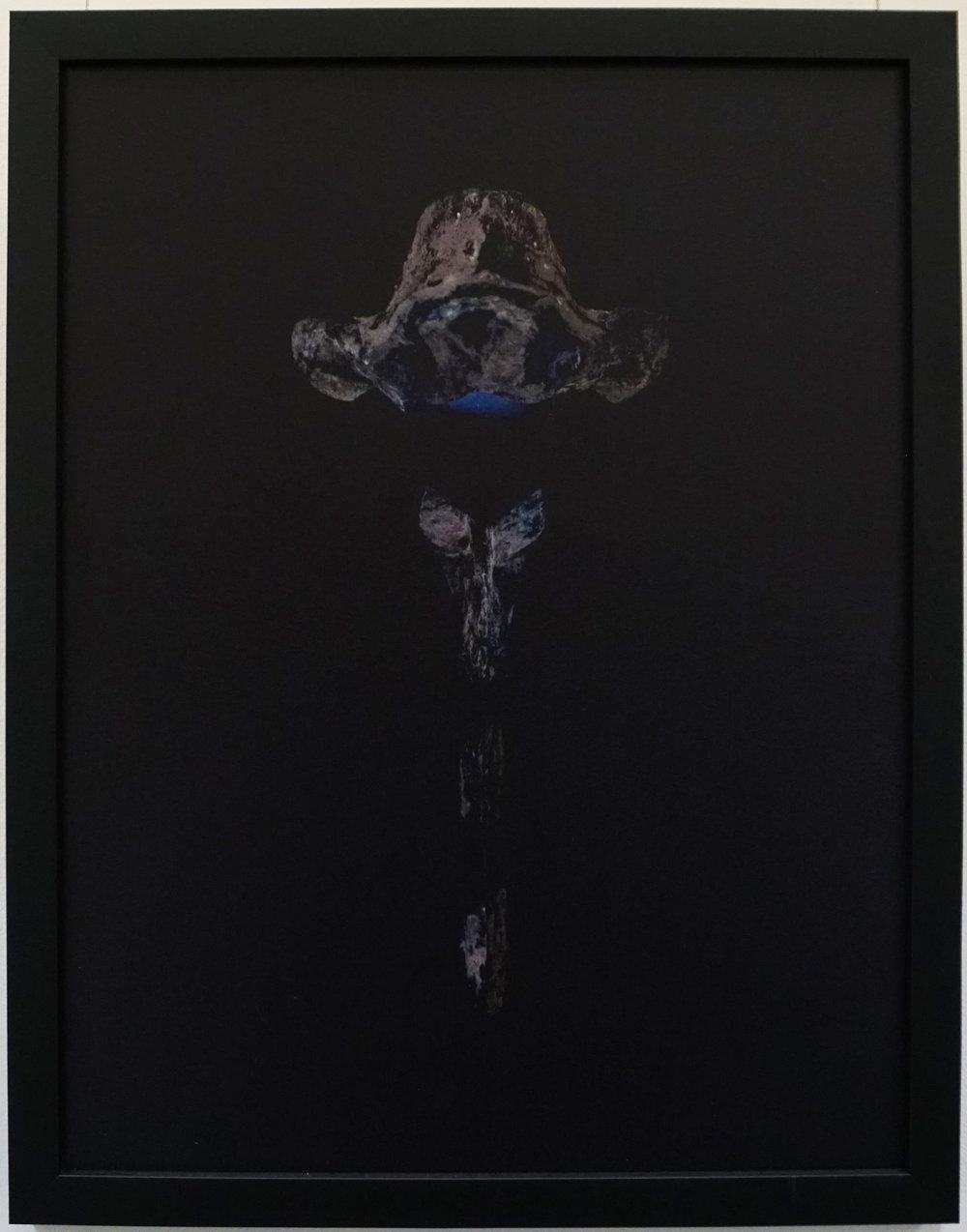9. Stephanie Reisch, The Emperor, 2015, pigment on gesso panel, 35 x 45 cm, $400