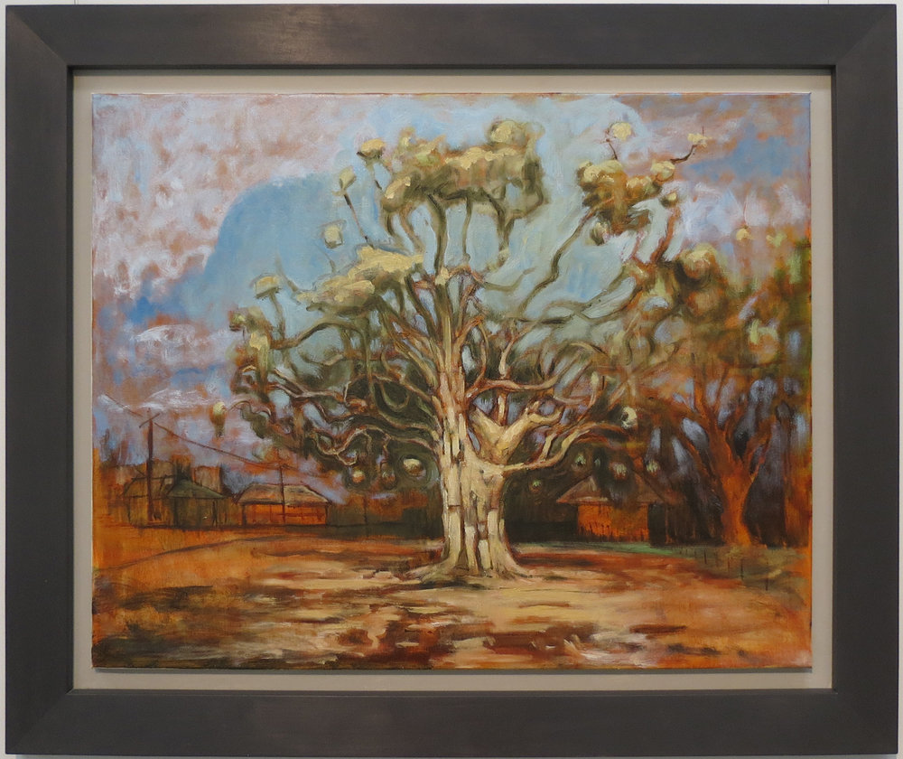 Harrison See, Golden Tree (Nichol St & Jacoby St), 2018, Oil on canvas, $810
