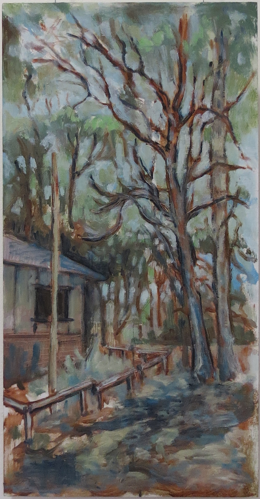 Harrison See, In the Shade (Railway Reserves Heritage Trail), 2018, Oil on board, $410