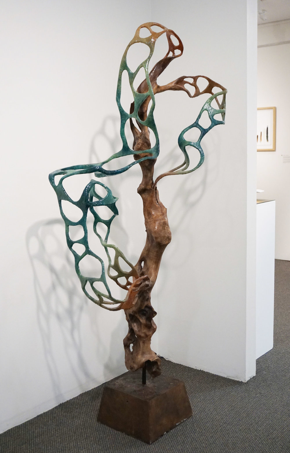 6. Britt Mikkelsen,  Rapids , driftwood, recyled acrylic, resin $3,800