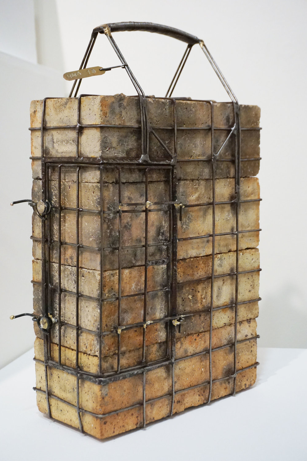 11. Hans Arkeveld,  Brick Carry Cage , Bricks and sttel rods $990