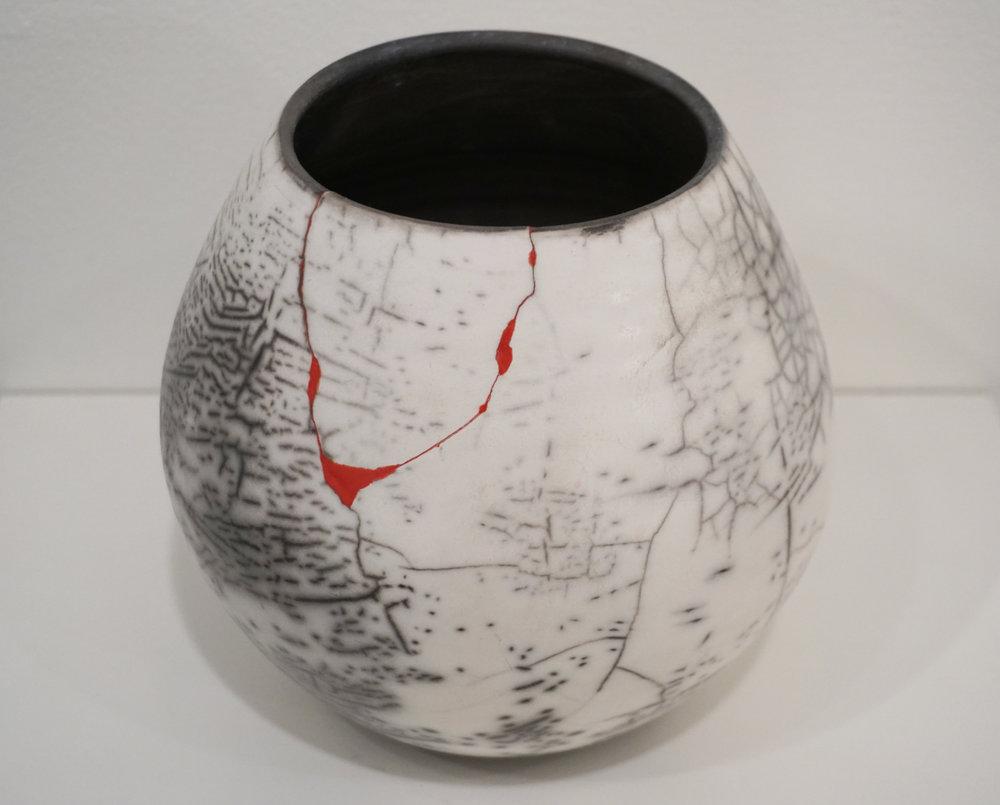 33. Narayani Palmer,  Brokennotbroken , Naked raku ceramic $250