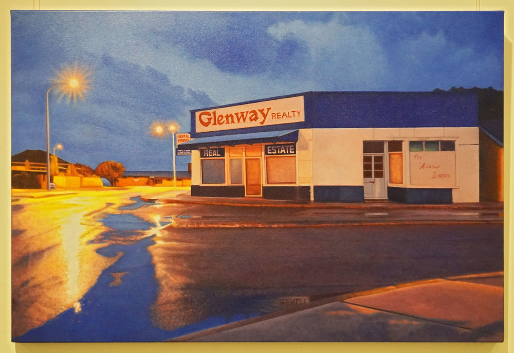 40. Ann Hart, Glenway Realty - recycled, Oil on canvas $3,300