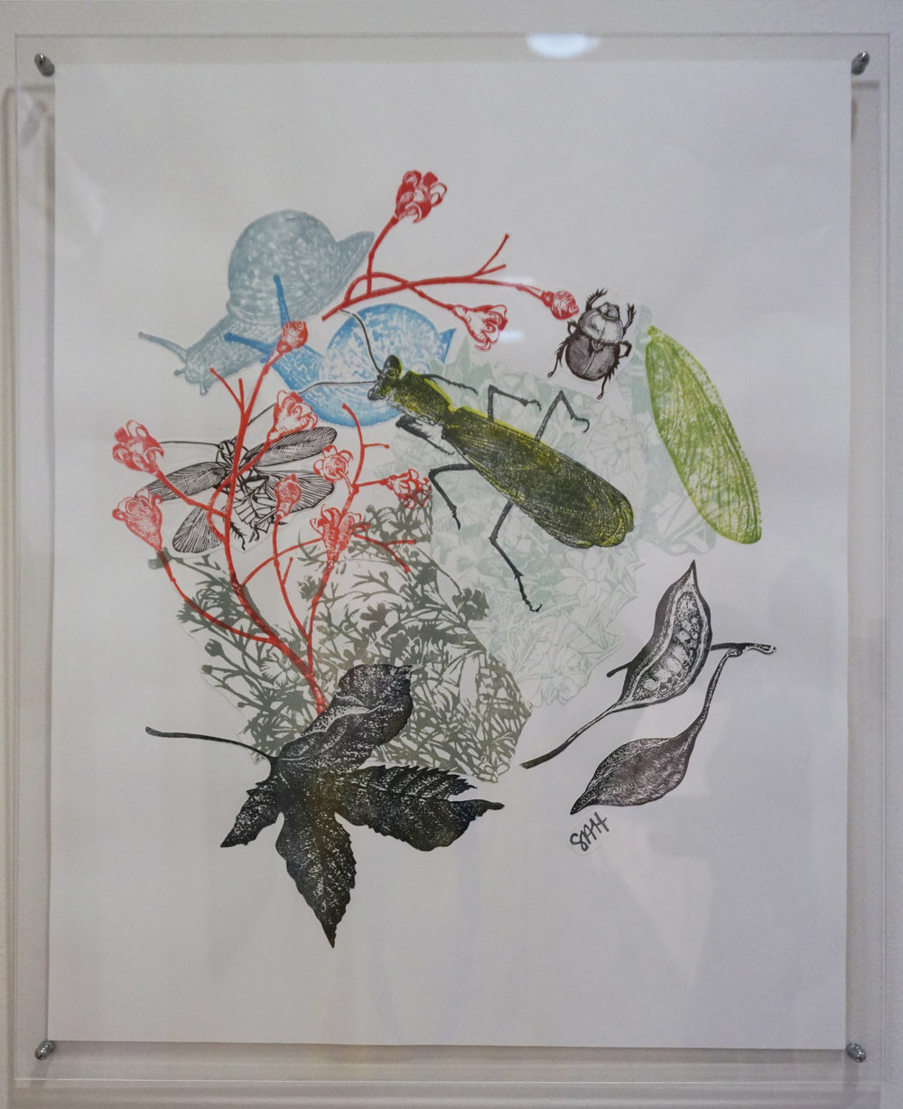 46. Sandra Hall,  From the Proof Drawer , 2015, Lino print collage $350