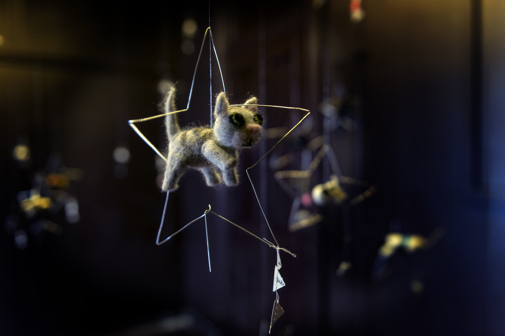 Elizabeth Marruffo,  Takasago pup is the boss of the stars,  2018, Wool, silver wire, silver thread, beads, crystal Photograph by Eva Fernandez.