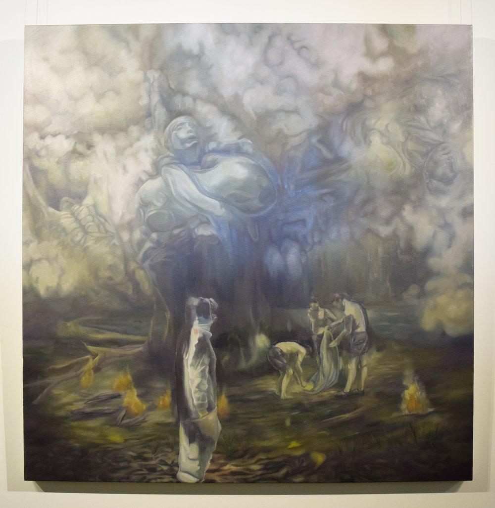 Jarrad Martyn,    Beautiful Mountain,  2018, Oil on Canvas, 120 x 120 cm, $1800