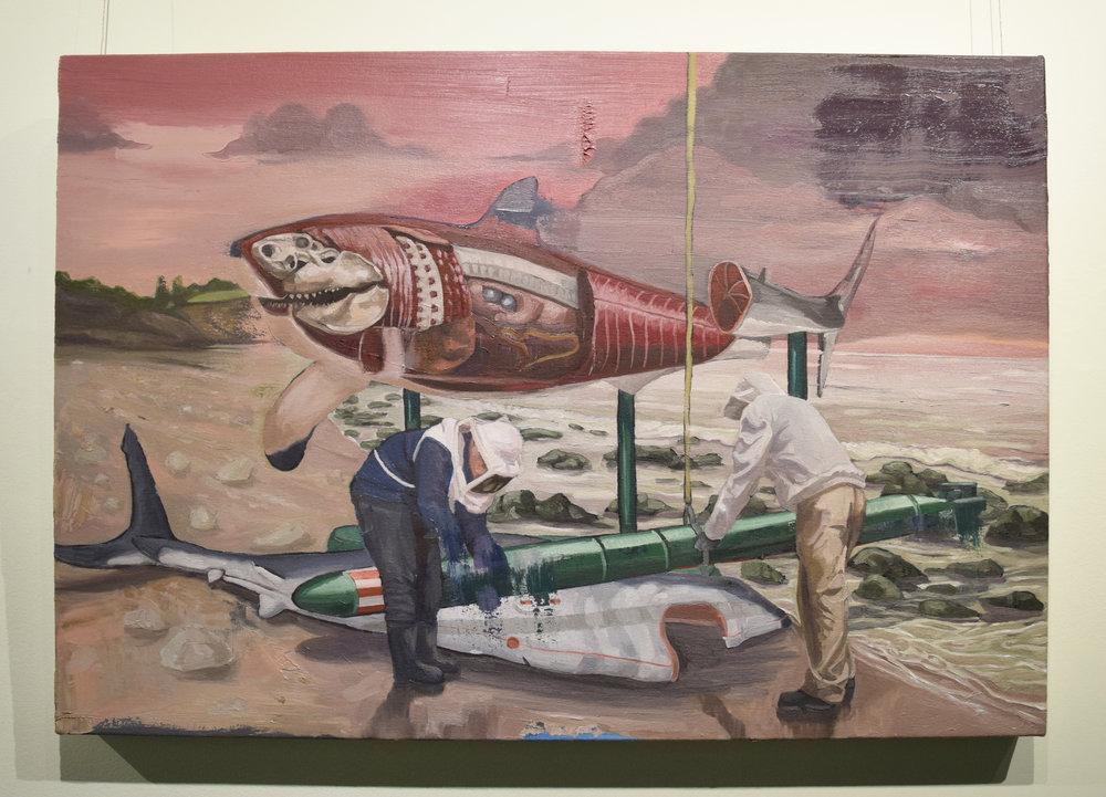 Jarrad Martyn ,   GWS,  2017, Oil on canvas, 64 x 86 cm, $1100
