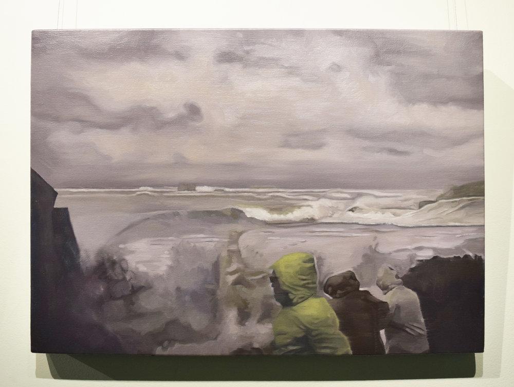 Jarrad Martyn ,   Loveliest tints of Azure,  2017, Oil on canvas, 49 x 64 cm, $850