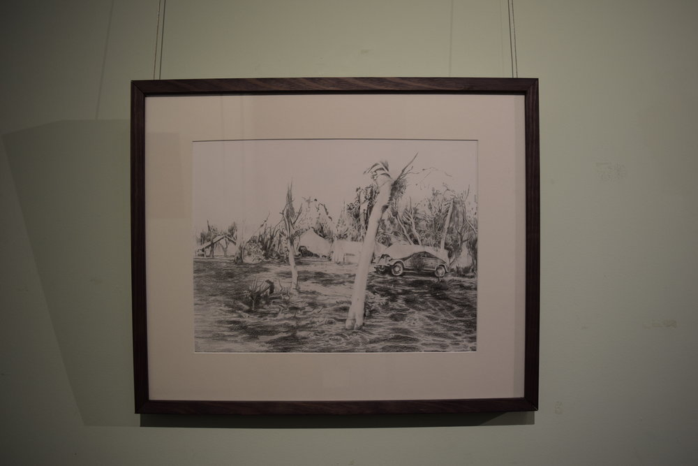 Jarrad Martyn ,   Scouts,  2017, Graphite on Paper, 36 x 41 cm, $500