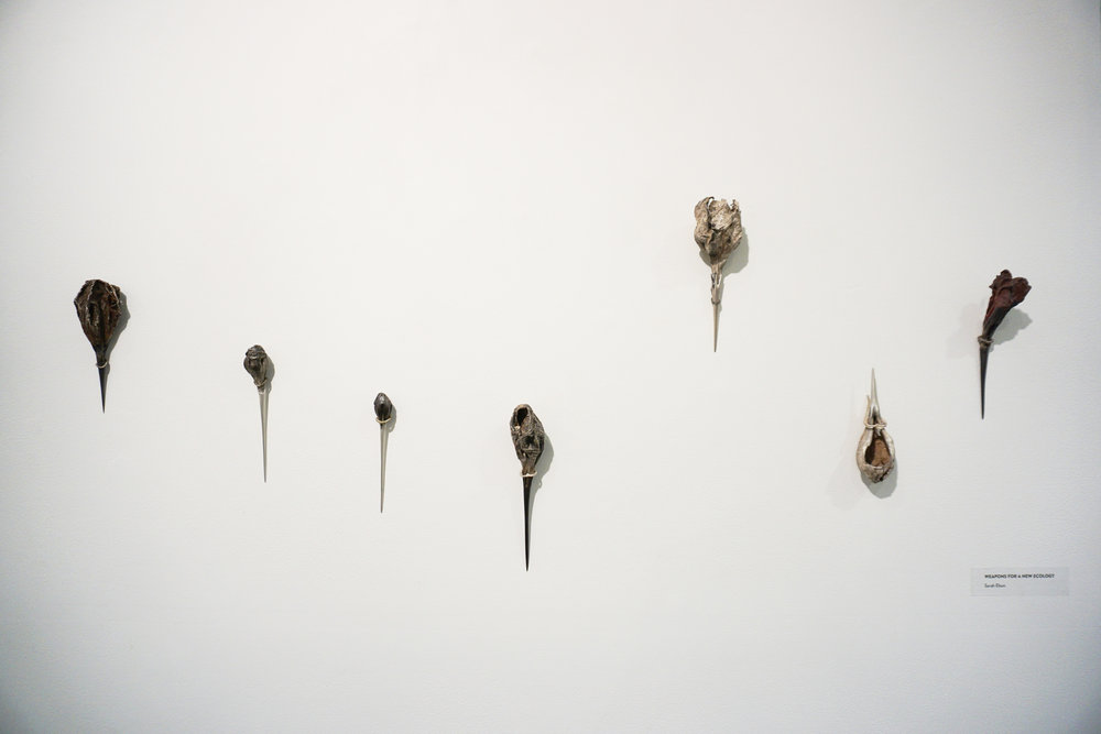 Sarah Elson,  Weapons for a new ecology , 2004-2018, recycled silver and copper alloys, variable dimensions (7 pieces) $1,800 each