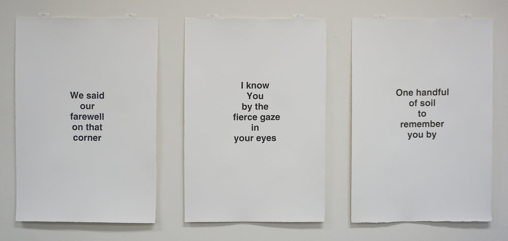 Olga Cironis,  Roses are red, violets are blue, I truly dearly love you III-V , 2018, ink on archival paper, 56.5 x 39 cm each. $280 each
