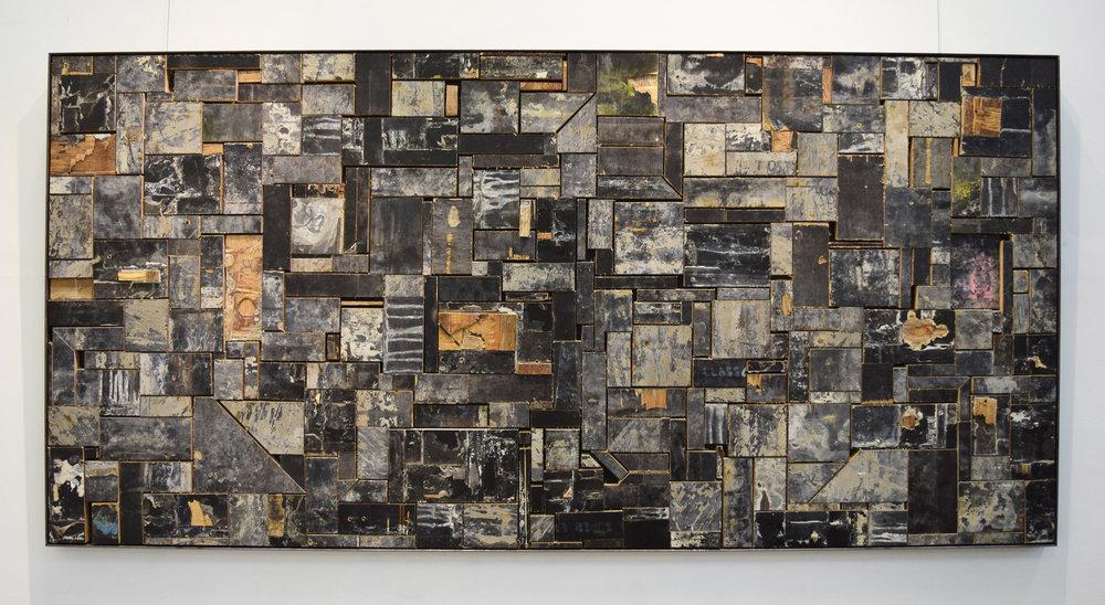 8. William Leggett,  Interminable Form 1 , 2018, plywood, 40 x 40 x 182 cm, $1,500
