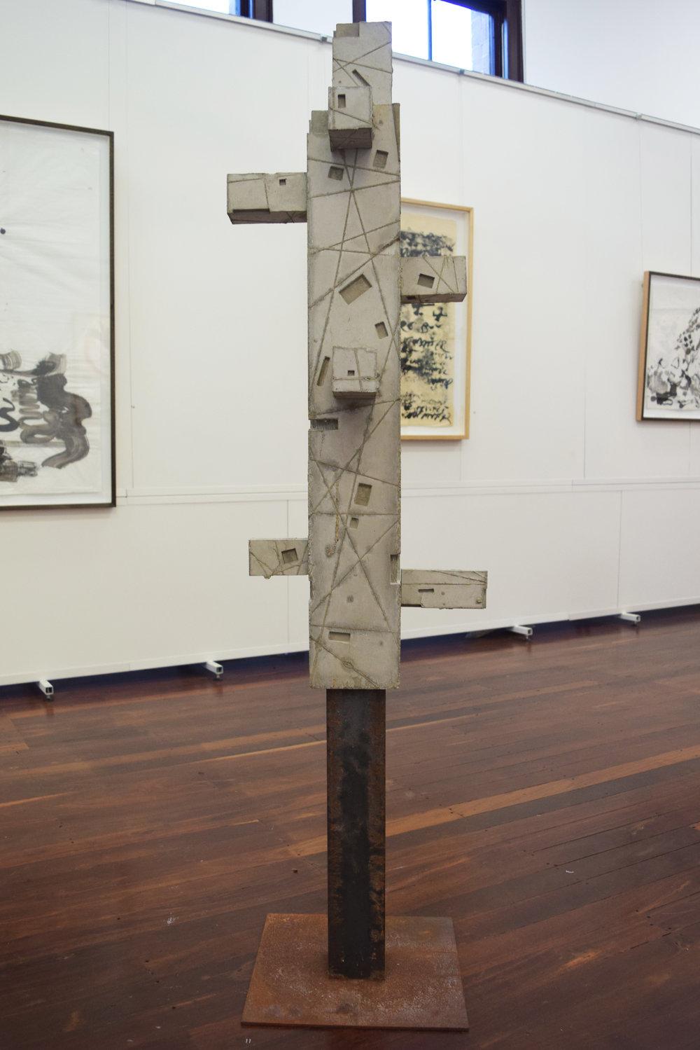 11. William Leggett,  Monument 4 , 2018, concrete and steel, 30 x 30 x 182 cm $1,200