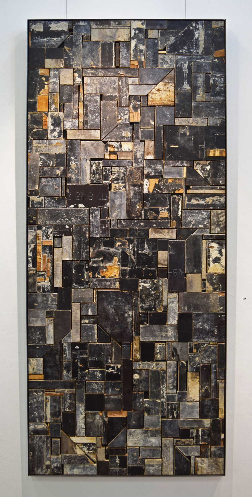 12. William Leggett,  Interminable Form 2,  2018, plywood, 182 x 40 cm $1,650