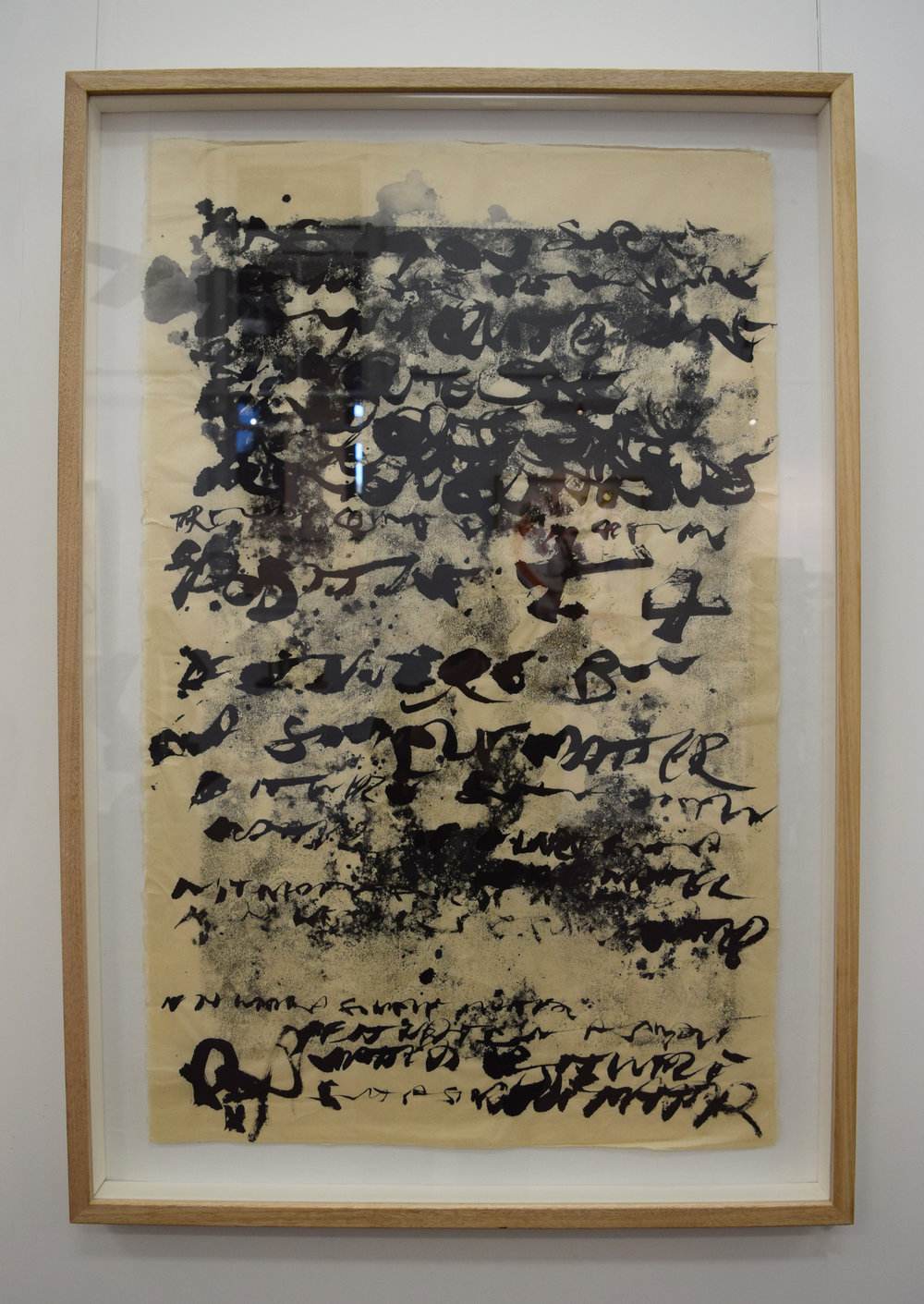 17. Rory Dax Paton,  I'm having changes,  2017, ink monotype, wax pencil, Washi paper, 107 x 72cm $1,800