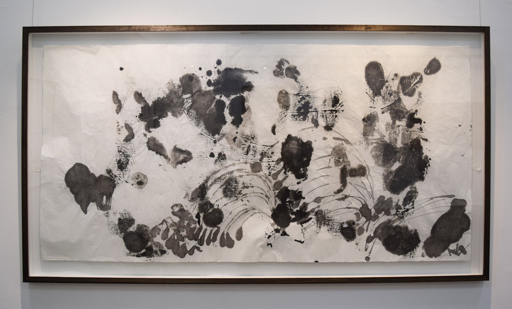 21. Rory Dax Paton,  White wet, heavy jetsom , 2014, ink and watercolour on Xuan paper, 78 x 145cm $2600