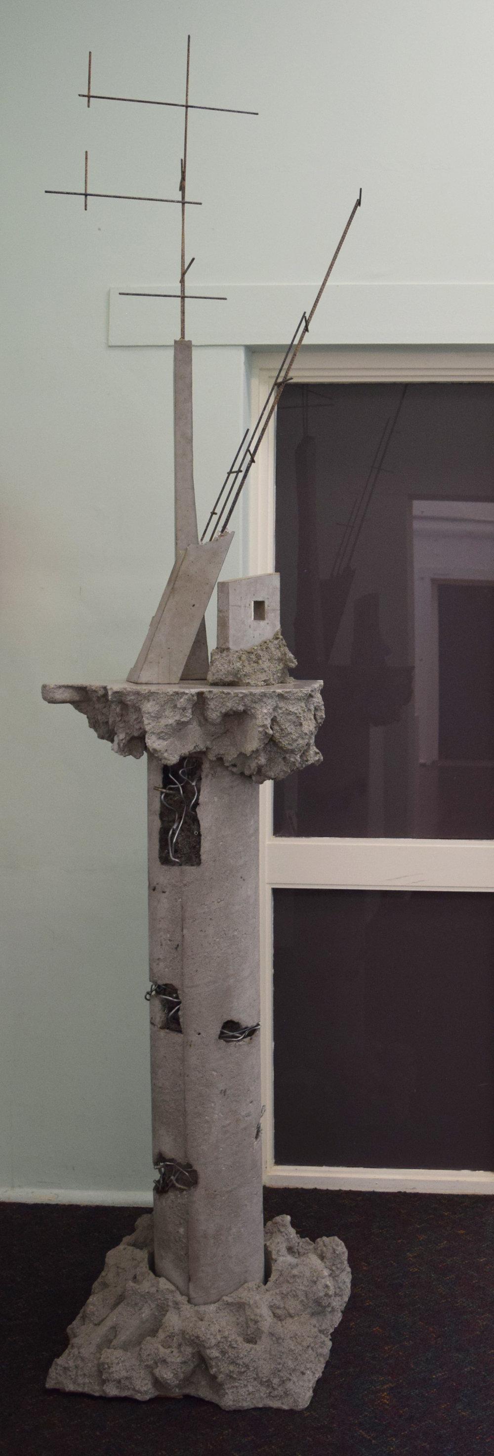 23. Adam Ismail and William Leggett,  Core,  2018, concrete, steel and Aluminium, 50 x 50 x 240 cm $4,000