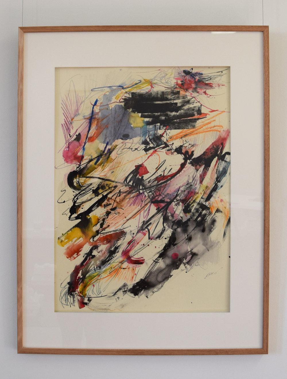 28. Rory Dax Paton,  Euro Pastel #1 , 2018, mixed media on pastel papaer, 93 x 72 cm $1,200