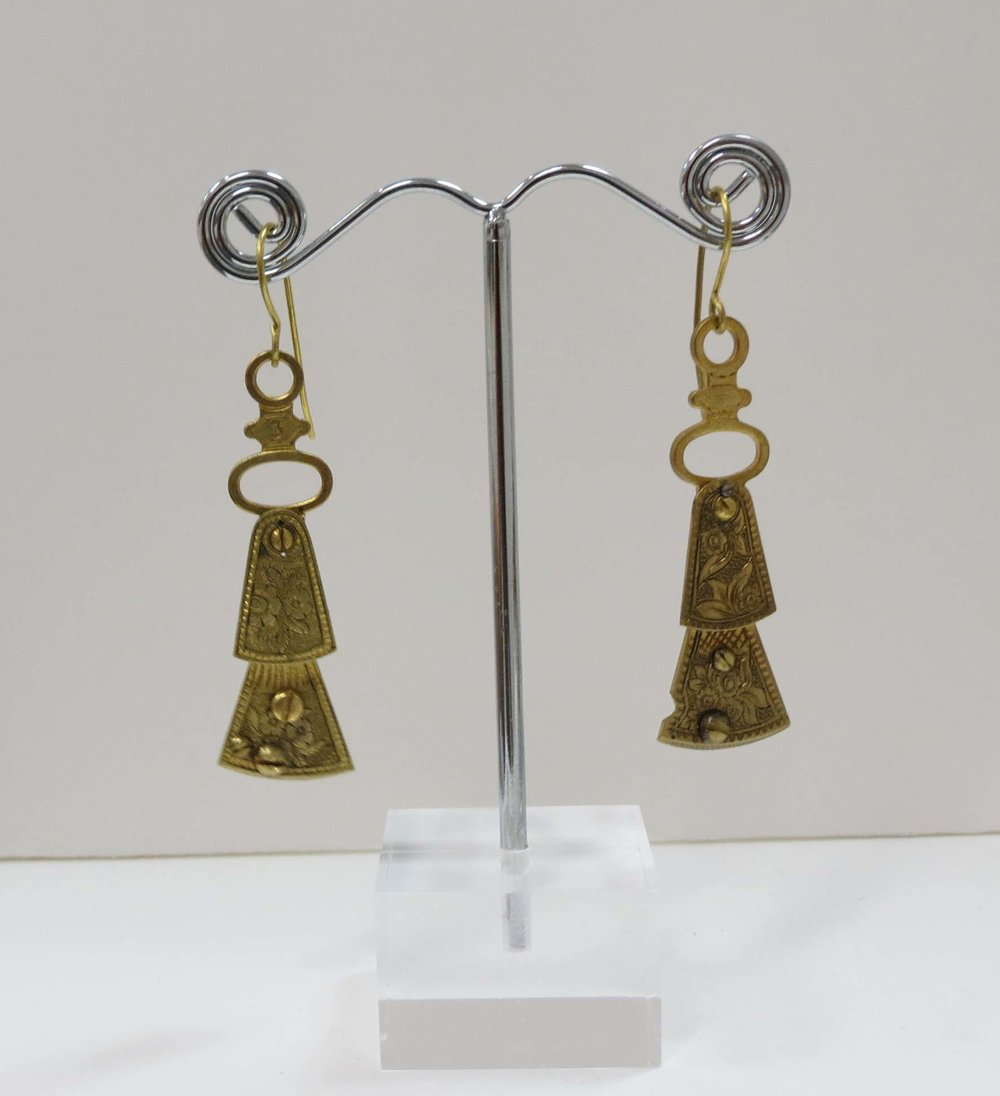 22. Kathy Aspinall, 'Balance I', 2018, balance cocks, earrings, $120