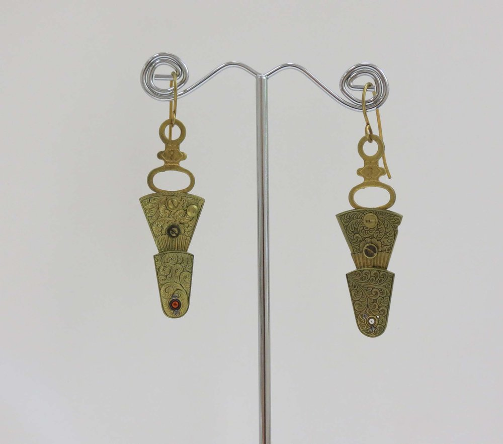 23. Kathy Aspinall, 'Balance II', 2018, balance cocks, jewels, earrings, $125