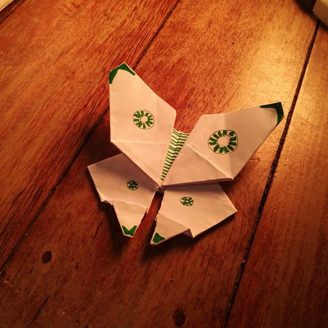 Instead of throwing away misprint #recycle #origami #butterfly #sustainable