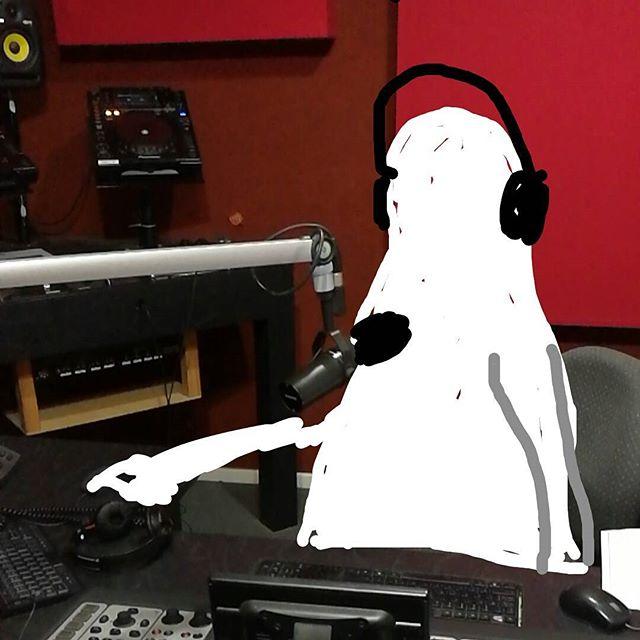 DJ Spooky Ghost crushing his midnight set at #rtrfm @rtrfm #radiothon2016 #2spooky4me