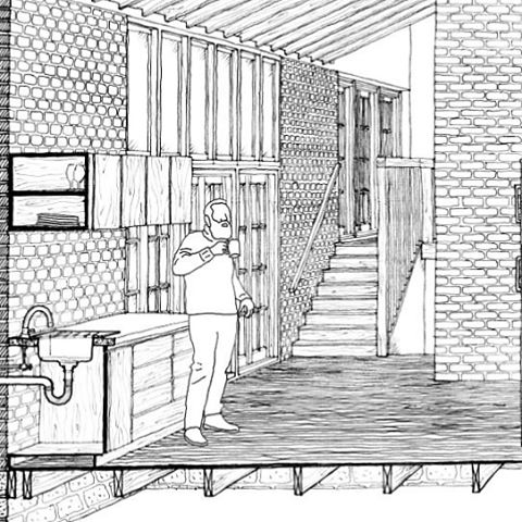 Sneak preview of the Turner House project. #architecture #section #sketch #ink #drawing