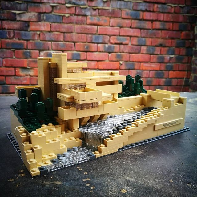 Great set from @lego Falling Water by Frank Lloyd Wright #architecture #lego #franklloydwright #fallingwater