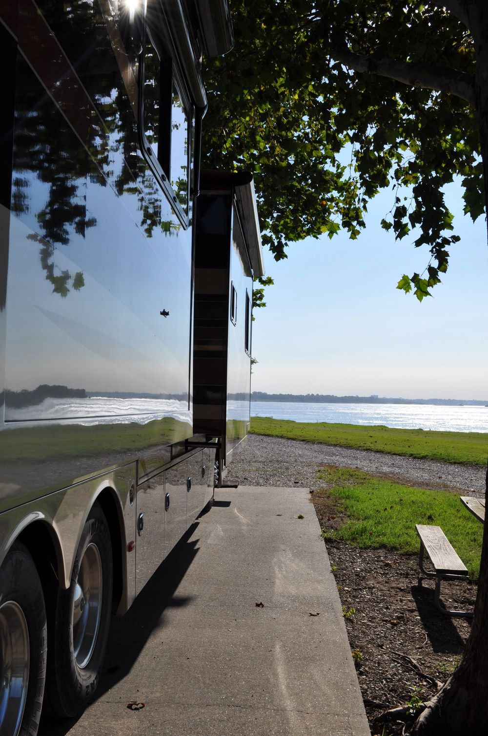 RVing off the Mississippi River - West Memphis, AR.
