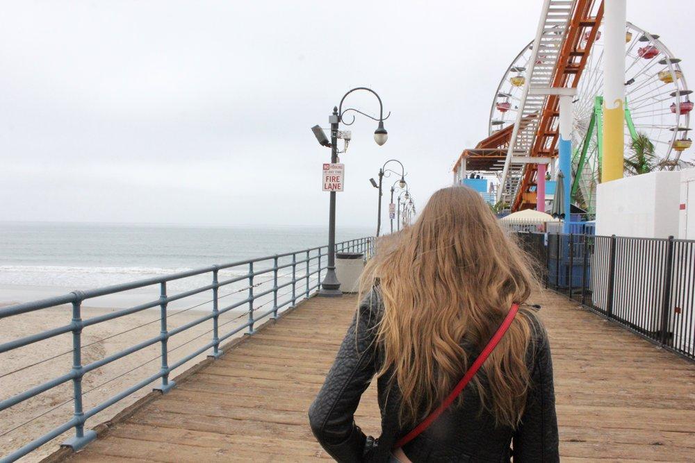 Sister adventures at Santa Monica Pier