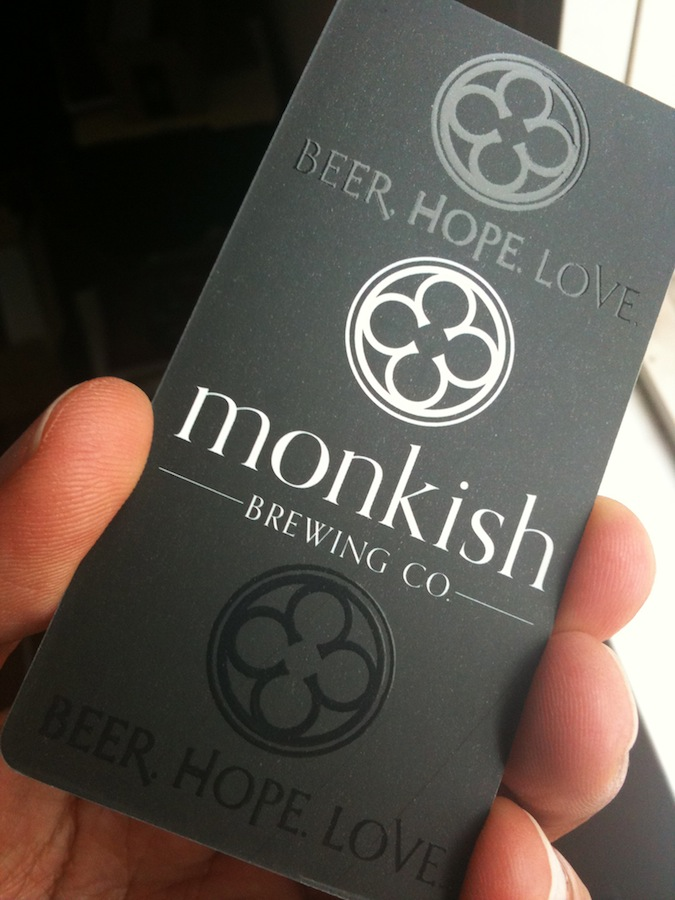 business cards — Monkish Brewing Co.