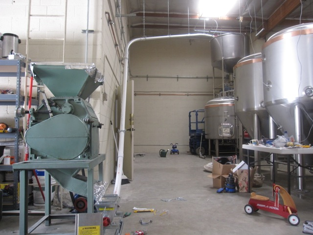 quick update: malt mill and auger — Monkish Brewing Co