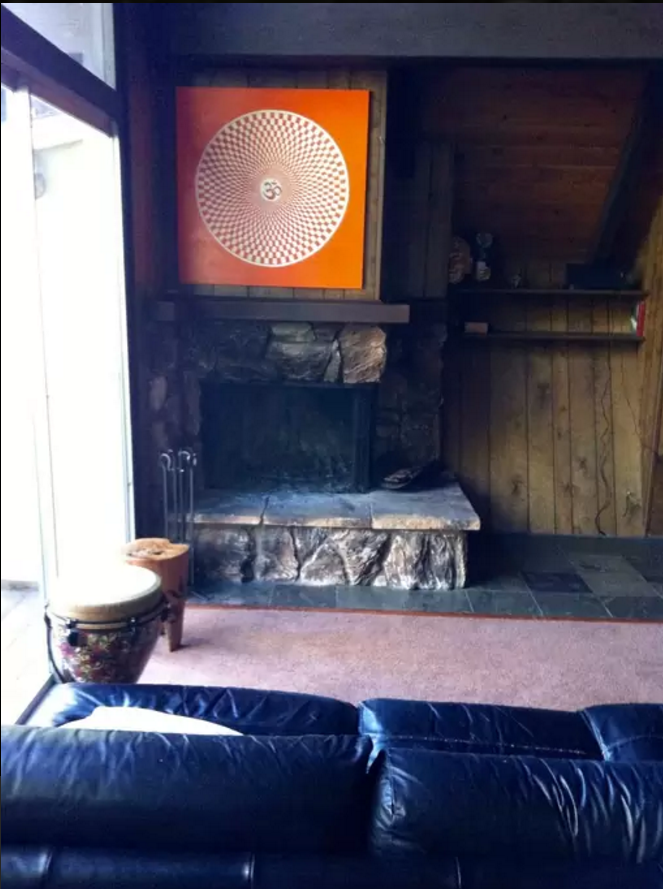 Here's our fireplace shot!