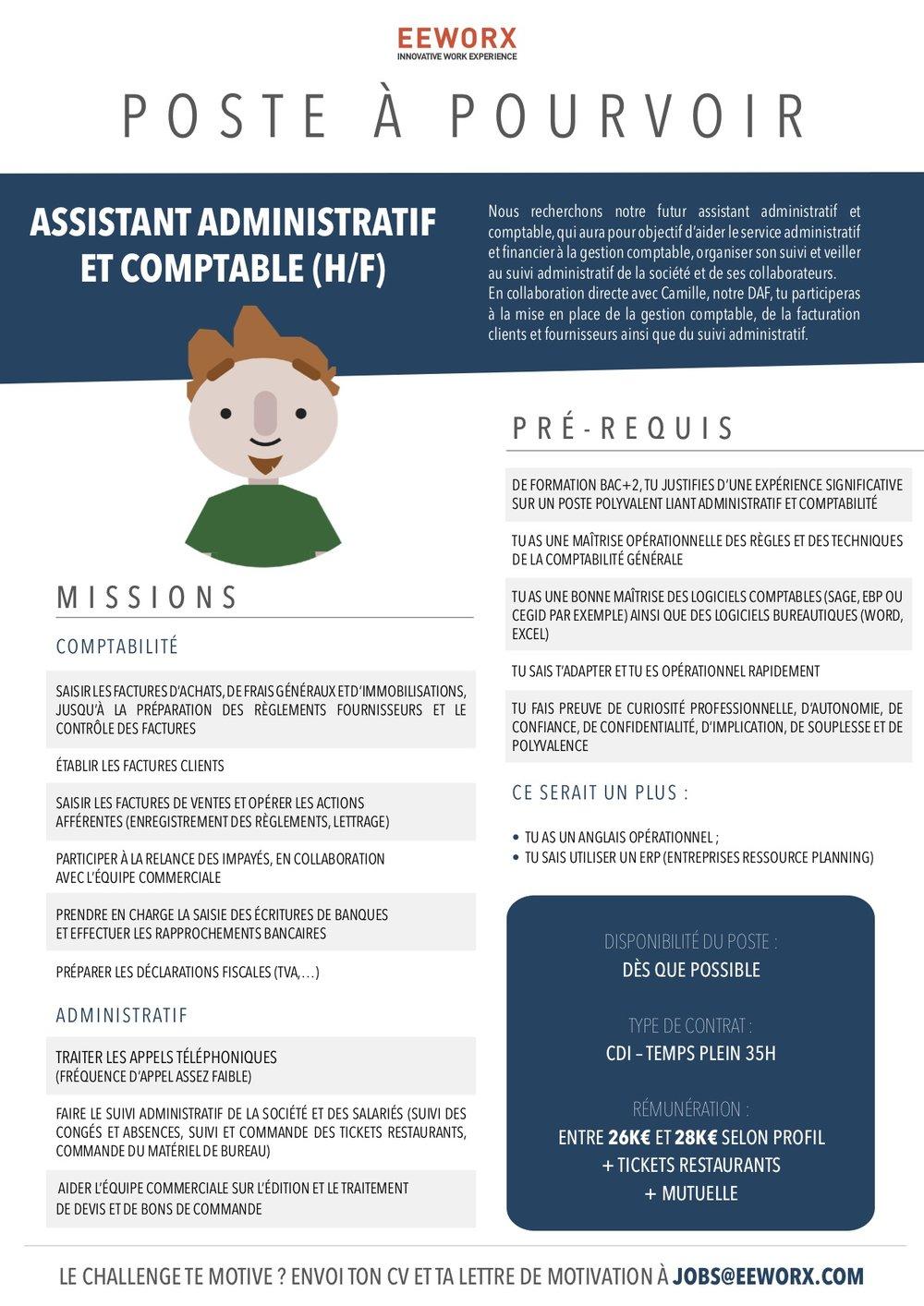 ANNONCE JOB - ASSISTANT ADMINISTRATIF ET COMPTABLE .jpg
