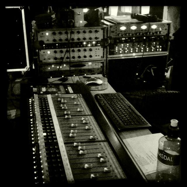 Bekkestudios opptaksrigg under sist innspilling