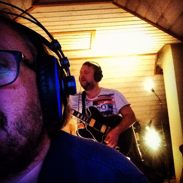 Joe tracking guitar