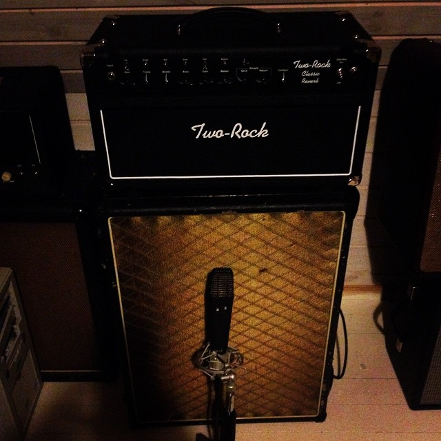 Two rock amp , used for most of the album