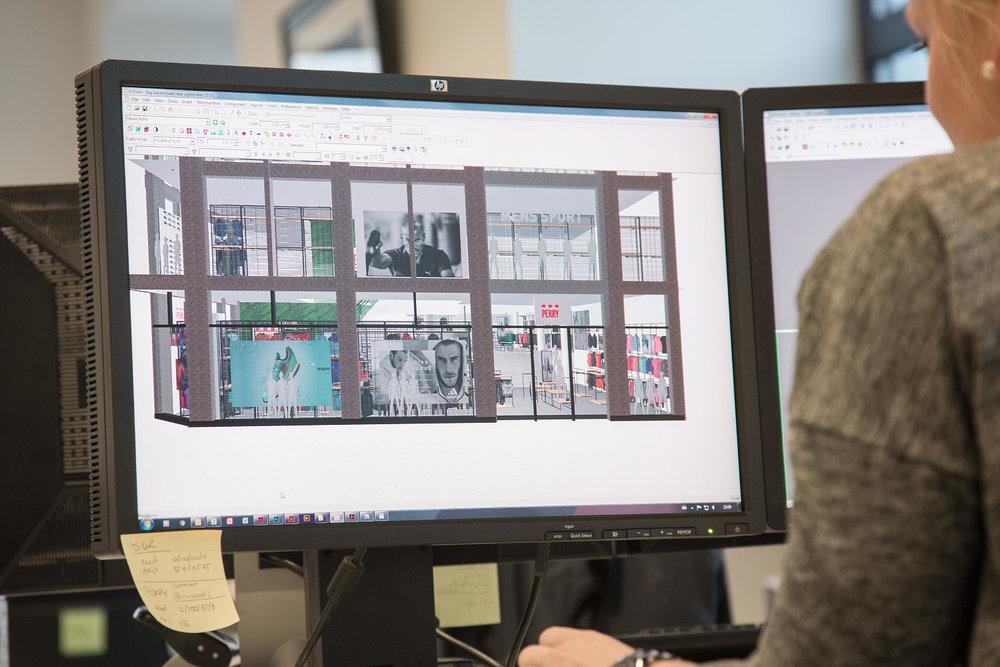 Kimberley Vermeij,Visual Merchandise Coordinator at Perry Sport working with MockShop