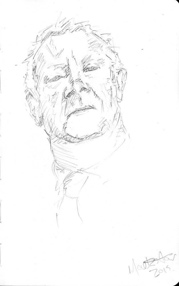 Mechanical Pencil in Moleskin Sketchbook