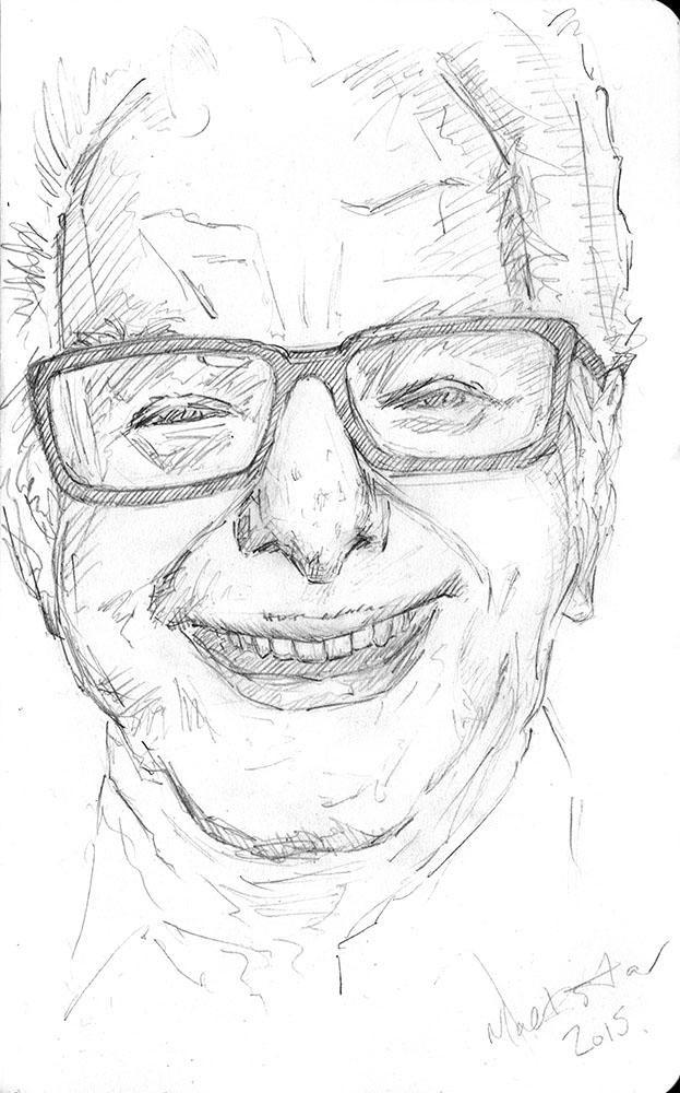 Mechanical Pencil in Moleskine Sketchbook