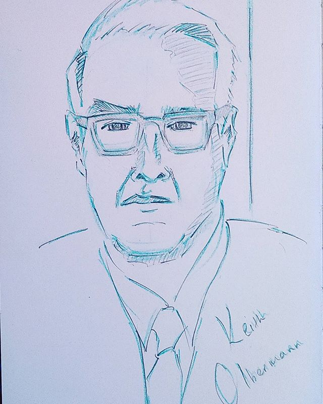 #pencilportrait #sketch #sketchbook #scribble #pencil #portrait #doodle #pencilsketch #drawing #keitholbermann #gq #theresistance