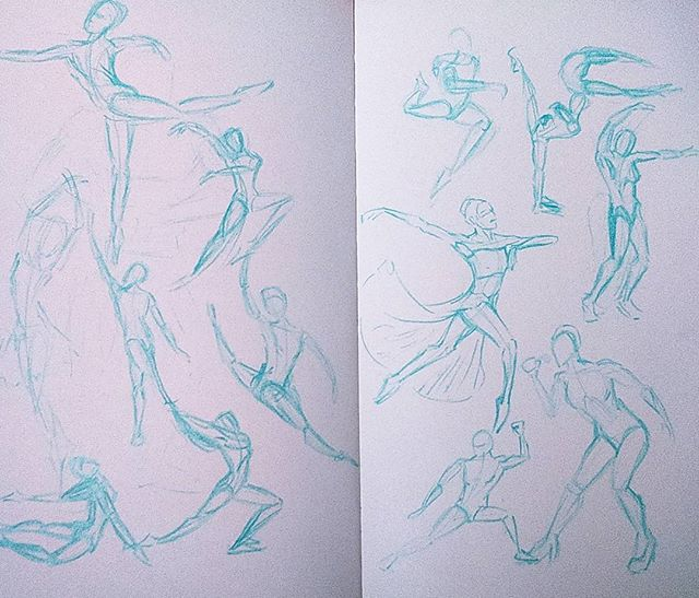 Dynamic Pose Studies #pencil #pencilsketch #anatomy #pencildrawing #sketch #sketchbook #poses #doodle #ballet #instaart #instaartist