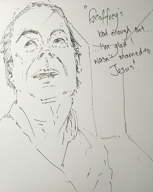 Full day of #TalkingHeads at @westyorkshireplayhouse yesterday. #AlanBennet at his finest and wonderful performances.  #Scribble of #CateHamer as #Susan in #BedAmongTheLentils  #wyp #leeds #theatre #sketch #pensketch #sketchbook #penportrait #portrait #doodle