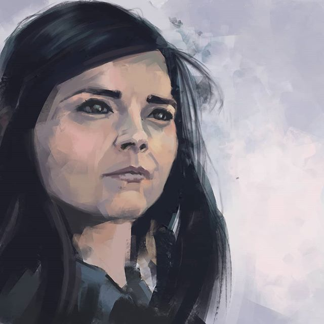 Jenna Coleman  as Clara Oswald.  One in a long list of #doctorwho characters I dearly miss.  #portrait #portraitartist #art #instaart #instaartist #saltaire #yorkshireartist #portraitart #fanart #artistoninstagram #wacomintuos #digital #digitalpainting #photoshop #painting #digitalart #digitalartist #claraoswald #doctorwhofanart