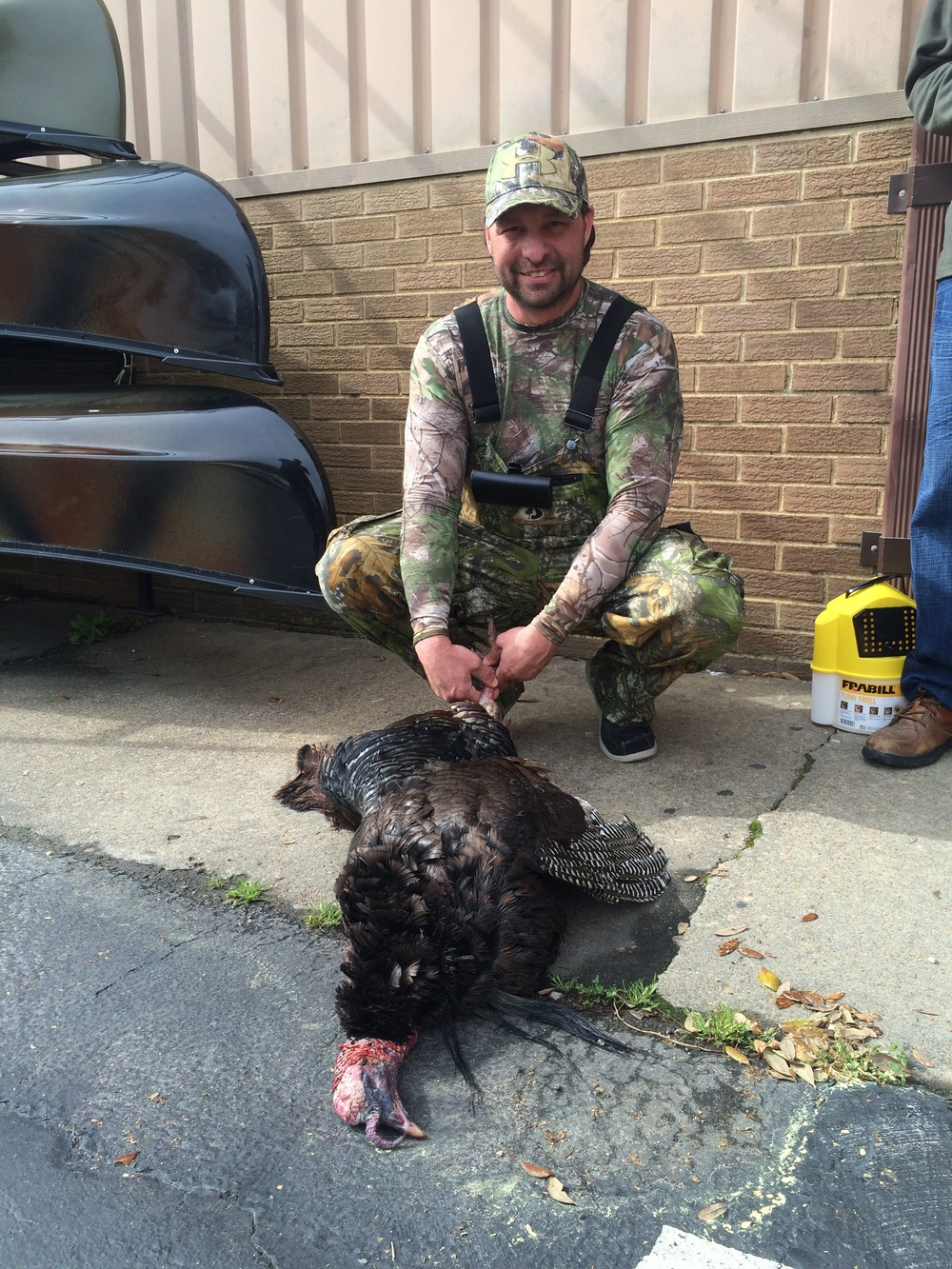 John Holston got this triple bearded turkey in Surry, VA on opening day of turkey season 2015!