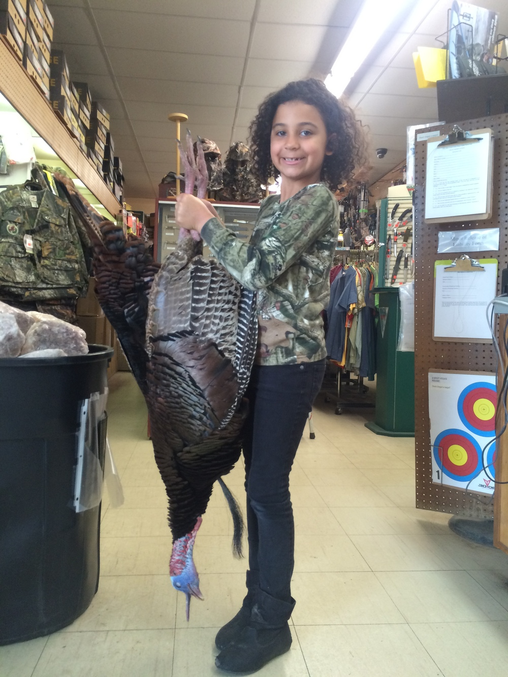 "Alivia Ulsh with her 17lb, 9 3/4"" beard turkey harvested in Suffolk"